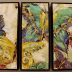 """BUTTERFLY TRIPTYCH"" 26X33"" OIL ON CANVAS SOLD"