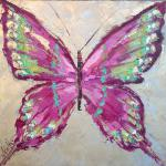 """PINK BUTTERFLY"" OIL ON CANVAS SOLD"