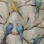 """BIRDS"" 18X24"" OIL ON CANVAS sold"