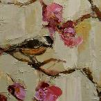"""SONGBIRD PANEL 2"" 12X48"" OIL ON CANVAS SOLD"