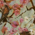 """SPRING CHERRY BLOSSOMS"" 16x40"" OIL ON CANVAS  SOLD"