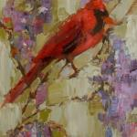 """CARDINAL 2"" 9X12""OIL ON CANVAS SOLD"