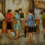"""TRAIN STATION""  OIL ON CANVAS SOLD"
