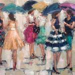 """PARTY SKIRTS"" OIL ON CANVAS SOLD"