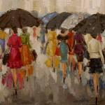 """FIFTH AVENUE LADIES"" 36x48"" oil on canvas SOLD ***limited edition prints and giclees available"