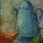 """TEAPOT"" OIL ON CANVAS 21.5X25.5"" FRAMED SOLD"