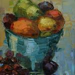 """FRUIT BOWL"" oil on canvas 12x16"""